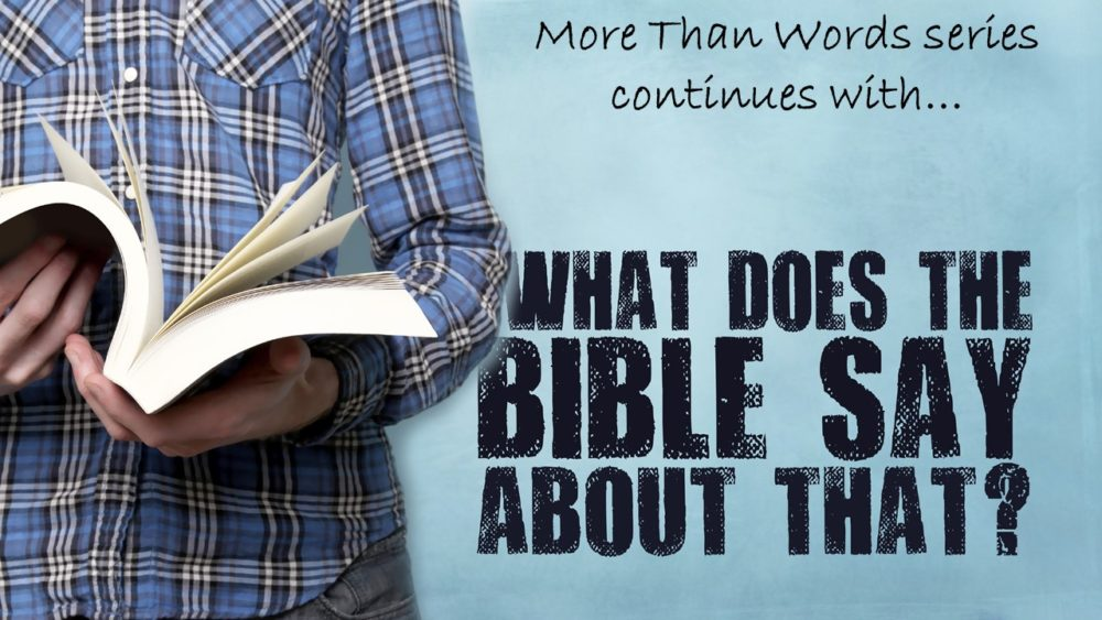 What does the Bible say about that? Image